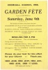 Cromhall Church Garden Fete flyer, 1956