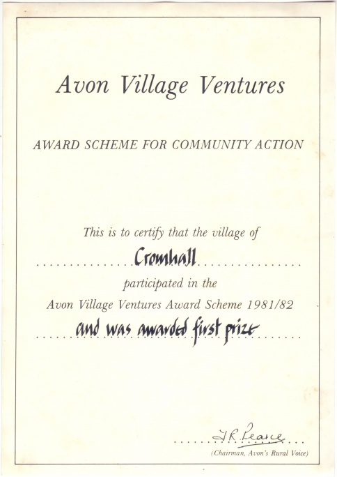 Avon Village Ventures award 1981/82