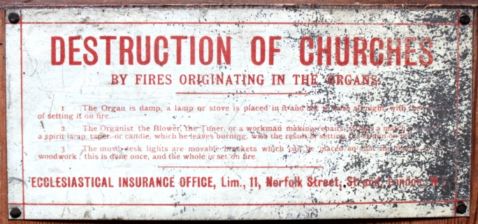 Destruction of Churches sign