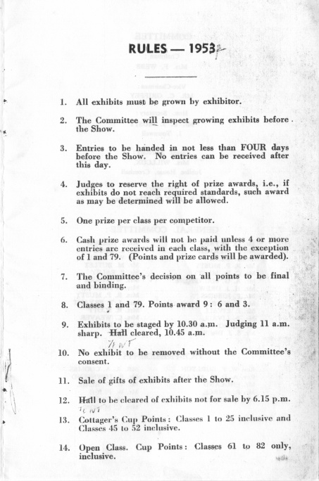 Cromhall Show schedule, 1953 - p3