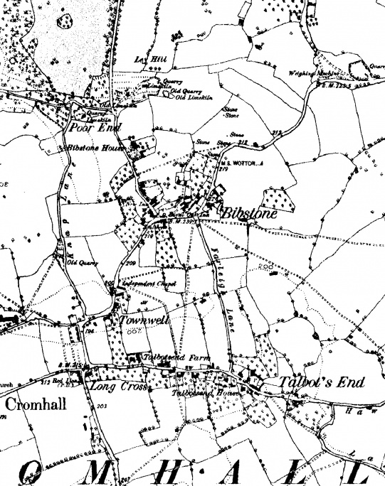 Map: Cromhall, 1889 (detail)