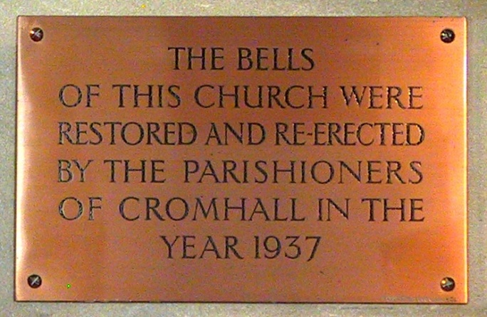 Plaque: restoration of the church bells