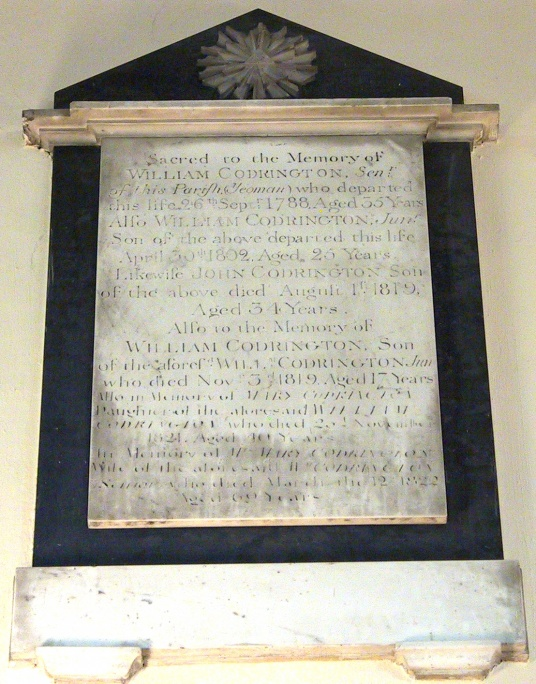 Memorial: Codrington, 1788..1822